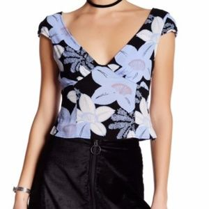 NWT Free People Grove Floral Crop Top - size 6